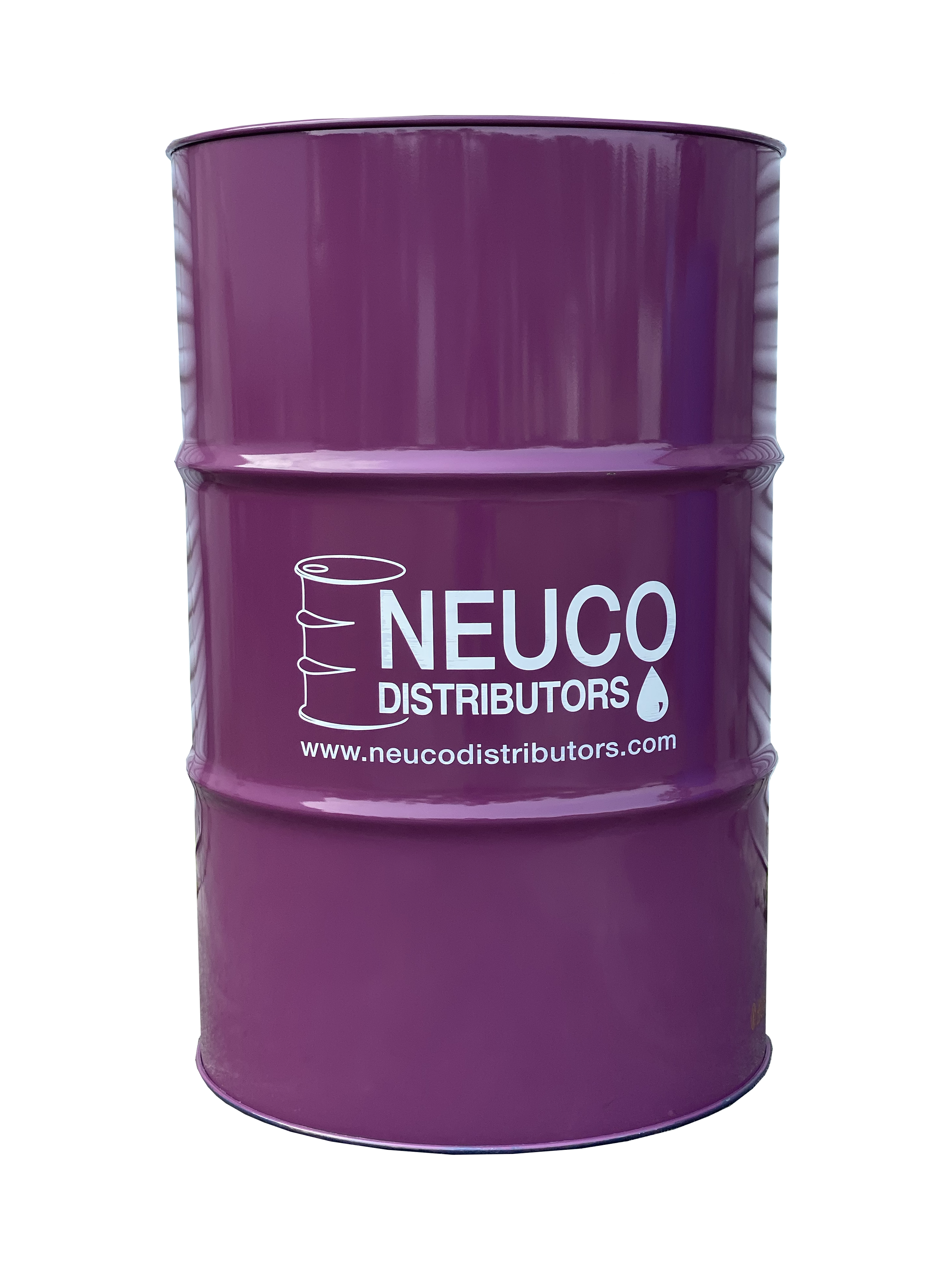 Picture of purple 55 gallon drum with Neuco logo