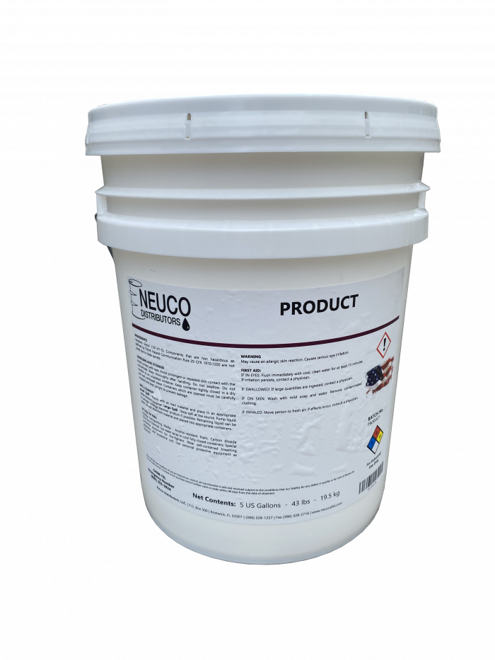 Picture of 5 gallon bucket of Neuco product.
